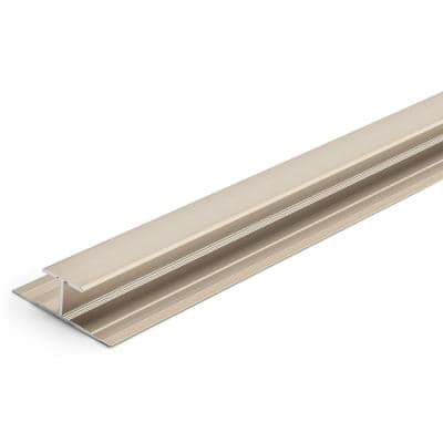 8 mm Satin Nickel 1-1/4 in. x 84 in. Aluminum T-Molding Transition Strip