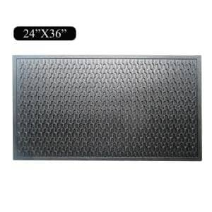 A1HC Natural Rubber Geometric 24 in. x 36 in. Residential/Commercial Tapered Edge Scraper Door Mat