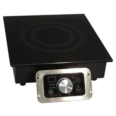 12.5 in. Built-in Induction Cooktop in Black with 1 Element