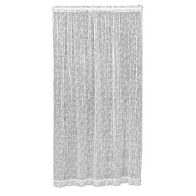 White Coastal Rod Pocket Room Darkening Curtain - 45 in. W x 84 in. L