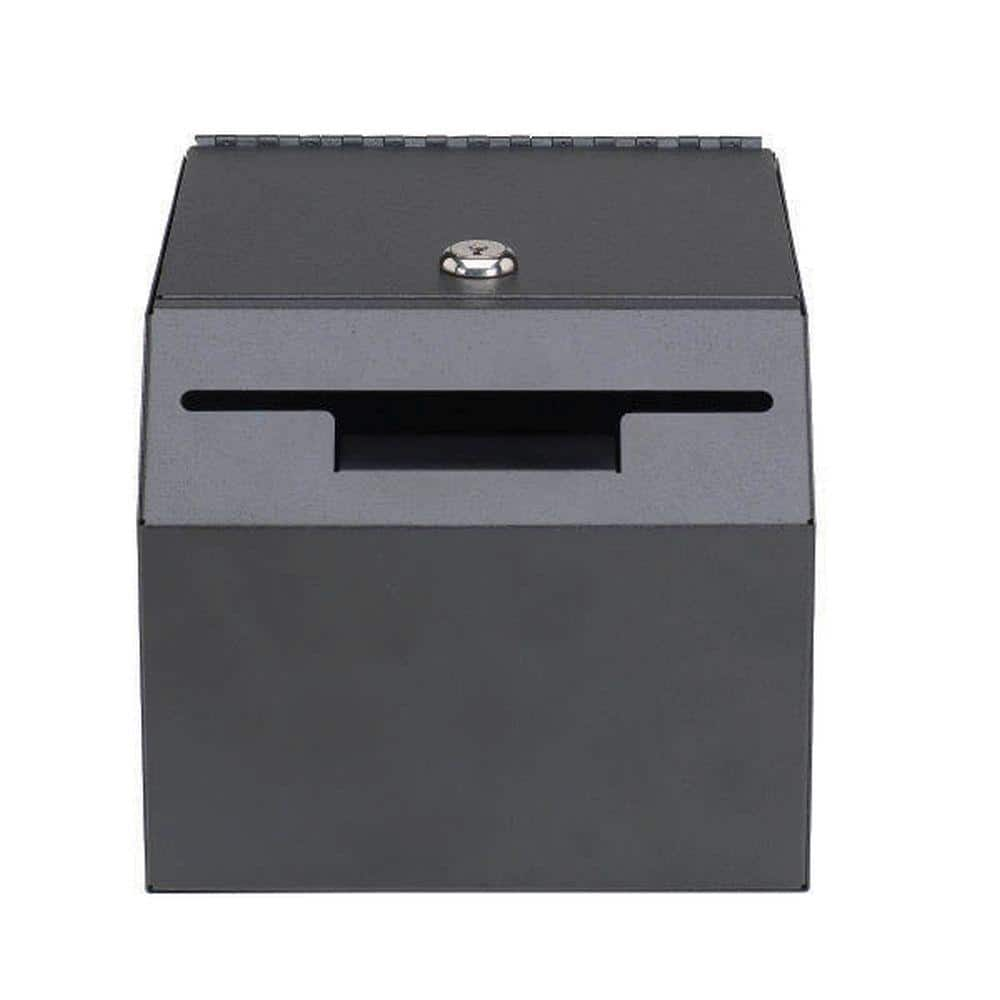 Steelmaster Lockable Suggestion Drop Box Safe With 2 Keys Included Black 222000104 The Home Depot