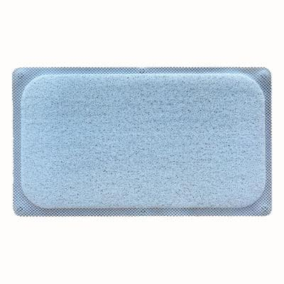 29.5 in. W x 17.25 in. L Loofa Bath Carpet in Angel Blue