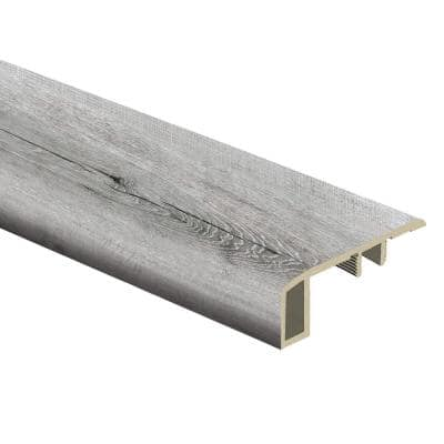 Alpine Backwoods Oak 7/16 in. Thick x 1-3/4 in. Wide x 72 in. Length Vinyl Carpet Reducer Molding