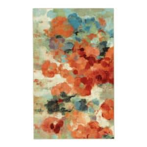 Colorful Garden Multi 4 ft. x 5 ft. Floral Area Rug
