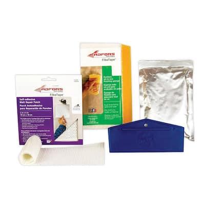 FibaTape 4 in. x 4 in. Self-Adhesive Dustless Wall Repair Kit