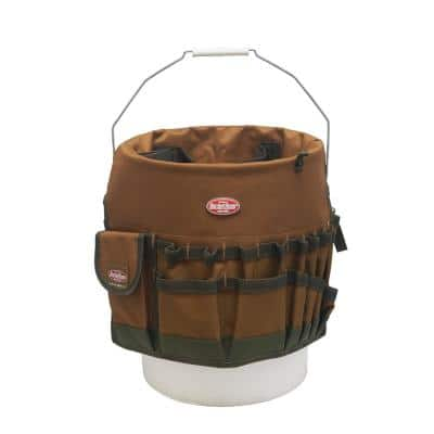 Bucketeer 5 Gal. Bucket Tool Organizer in Brown