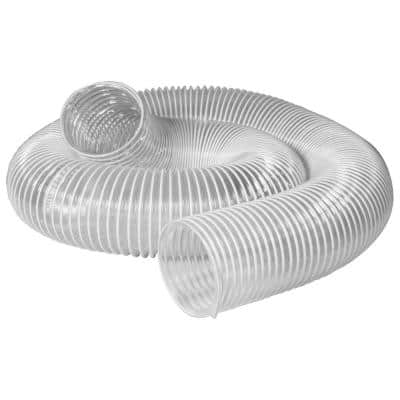 3 in. x 10 ft. PVC Flexible Dust Collection Hose in Clear