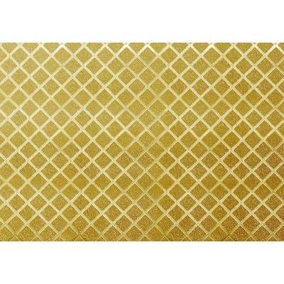Rhombus Tiles Golden Vinyl Strippable Roll (Covers 26.6 sq. ft.)
