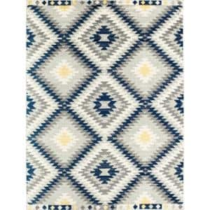 Bodrum Kilim Navy Multi 6 ft. x 9 ft. Area Rug