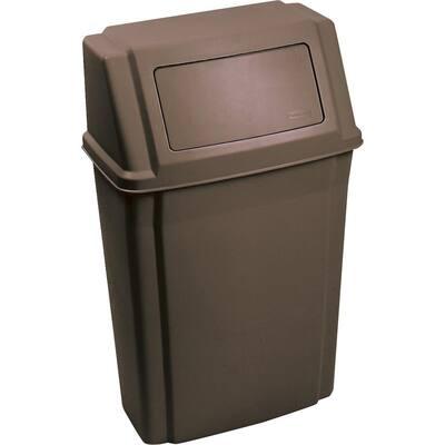 Slim Jim 15 Gal. Brown Plastic Waste Container