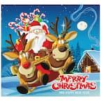 7 ft. x 8 ft. Santa's Take off Holiday Garage Door Decor Mural for Single Car Garage