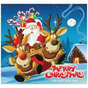 7 ft. x 8 ft. Santa's Take off Holiday Garage Door Decor Mural for Single Car Garage