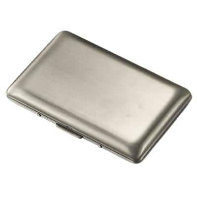 Clayton Antique Silver Stainless Steel Business Card Holder