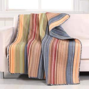 Katy Multicolored Quilted Cotton Throw