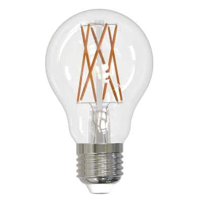 75-Watt Equivalent A19 Clear Dimmable Edison LED Light Bulb Warm White (2-Pack)