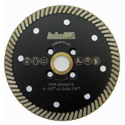4.5 in. Narrow Turbo Diamond Blade for Granite Cutting