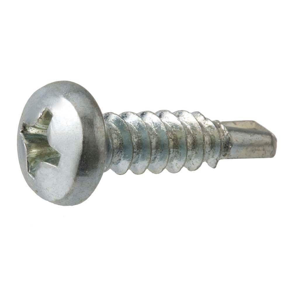 Everbilt 10 X 5 8 In Phillips Pan Head Zinc Plated Sheet Metal Screw 100 Pack 801082 The Home Depot