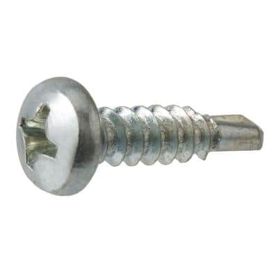 #10 x 5/8 in. Phillips Pan Head Zinc Plated Sheet Metal Screw (100-Pack)