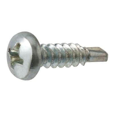 #8 x 5/8 in. Zinc Plated Phillips Pan Head Sheet Metal Screw (100-Pack)