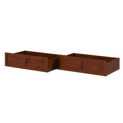 Antique Walnut Queen/King/Twin Extra Long Bed Drawer (Set of 2)