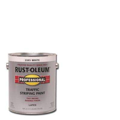 1 gal. Flat White Exterior Traffic Striping Paint