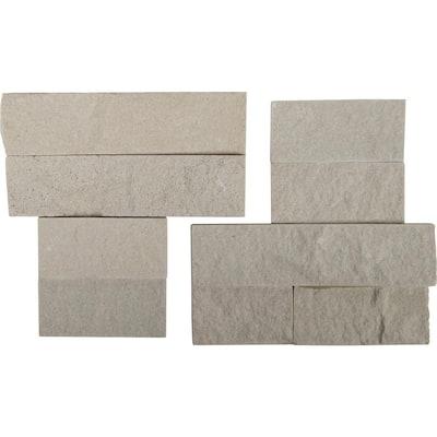 Salvador Beige Ledger Corner 6 in. x 6 in. Natural Sandstone Wall Tile (6 sq. ft./Case)