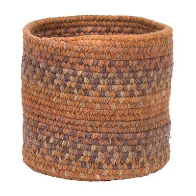 Acre Small Space Wool Basket Fall Oak 10 in. x 10 in. x 8 in.