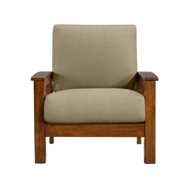 Barley Tan Linen 340c Lin82 175c, Occasional Chairs With Wooden Arms