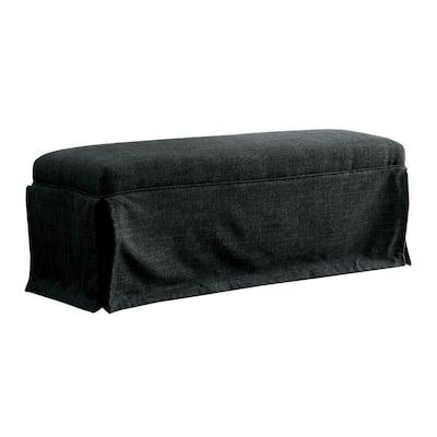 Cowan Dark Gray Upholstered 18 in. H x 48.5 in. W x 18.5 in. D Bench