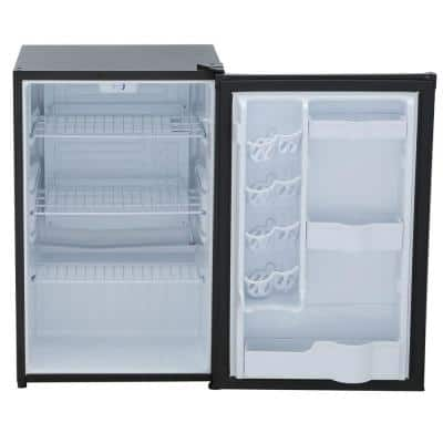 4.4 cu. ft. Mini Refrigerator in Black without Freezer