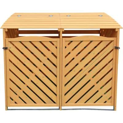 3 ft. x 4.9 ft. x 4 ft. Wooden Trash and Recyclables Bin Storage Shed