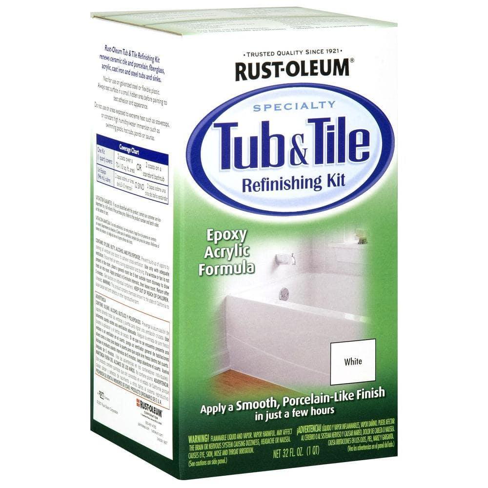 Rust Oleum Specialty 1 Qt White Tub, Home Depot Bathroom Paint