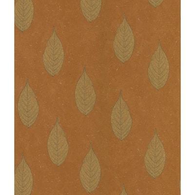 Leaf Toss Copper Wallpaper Sample