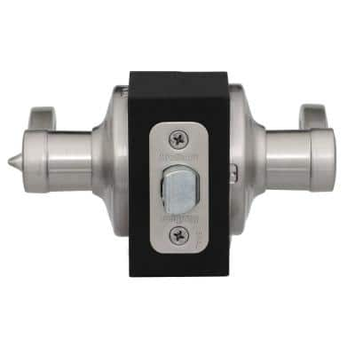 Lido Satin Nickel Privacy Bed/Bath Door Lever Featuring Microban Antimicrobial Technology