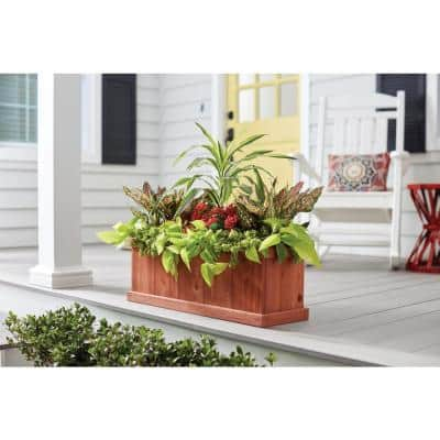 28 in. x 9 in. Wood Planter Box