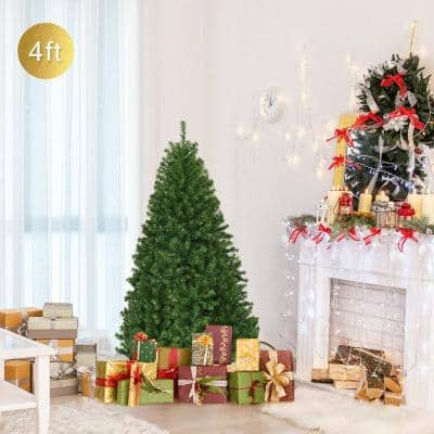 4 ft. Unlit Premium Hinged Artificial Christmas Tree