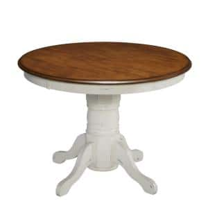 Deals on Home Styles French Countryside Oak and Rubbed White Dining Table