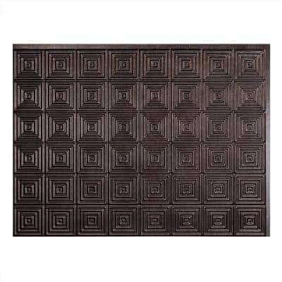 Miniquattro 18.25 in. x 24.25 in. Vinyl Backsplash Panel in Smoked Pewter (5-Pack)
