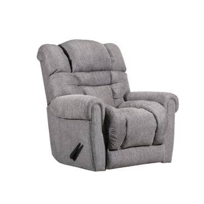 Boston 39 in. Width Big and Tall Pewter Chenille Rocking Zero Gravity Recliner