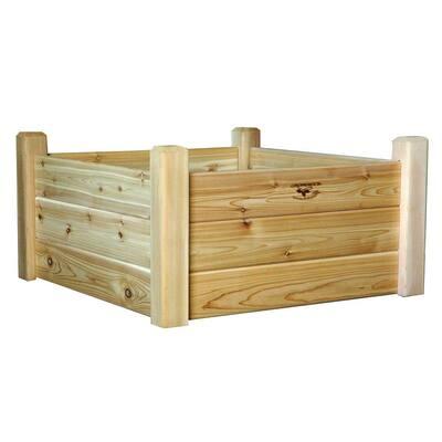 34 in. x 34 in. x 19 in. Raised Garden Bed