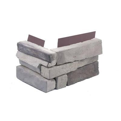 1.75 in. x 6 in. Colorado Gray Stone Veneer Siding (Corners)