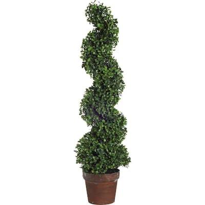 35 in. Decorative Boxwood Topiary Tree