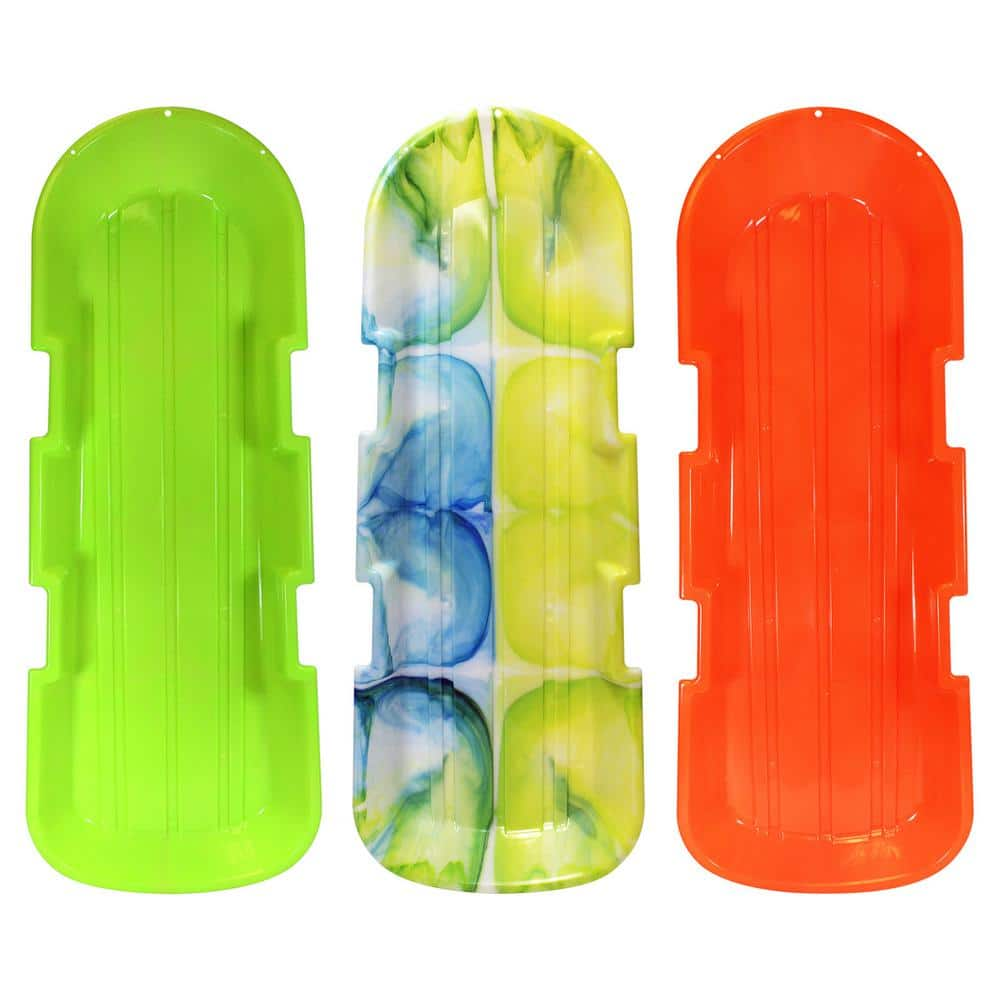 ESP Series 48 in. Day Glow Sno Twin Toboggan Sleds (3-Pack)