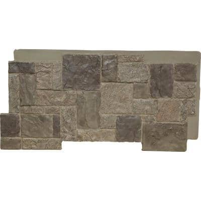 49 in. x 24-1/2 in. Castle Rock Stacked Stone, StoneWall Faux Stone Siding Panel