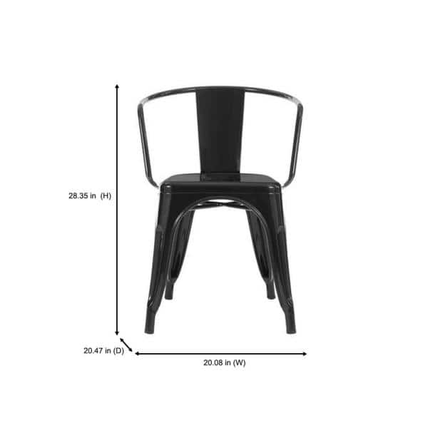 Stylewell Stylewell Black Metal Dining Chair Set Of 2 20 28 In W X 28 35 95 In H Cm805 18 Blk The Home Depot