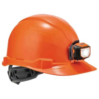 Class E Hard Hat Cap with Ratchet Suspension LED Light