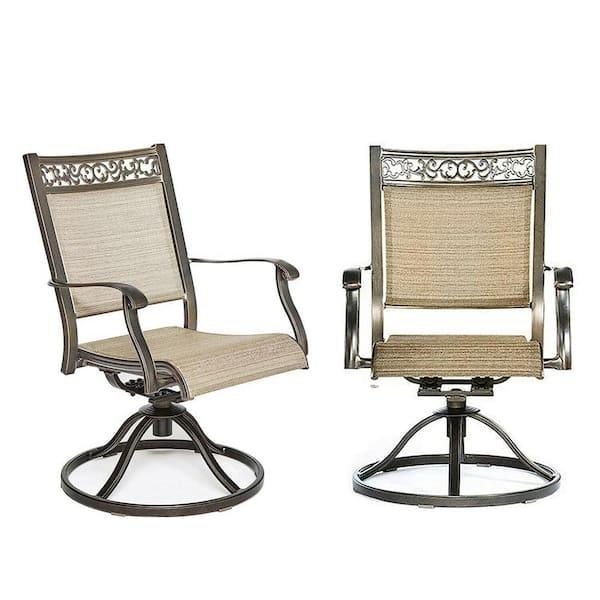 Boyel Living 2 Piece Bistro Swivel, Patio Furniture Swivel Rocker Chairs
