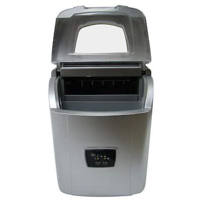26 lb. Portable Ice Maker in Silver