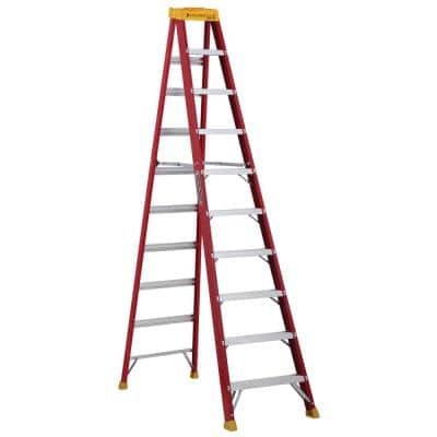 10 ft. Fiberglass Step Ladder with 300 lbs. Load Capacity Type IA Duty Rating