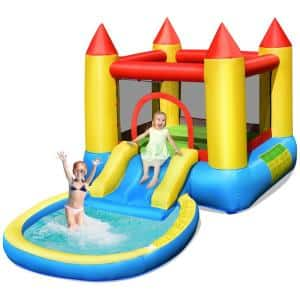 Multi-Color Inflatable Bounce House Kids Slide Jumping Castle Bouncer with Balls Pool and Bag